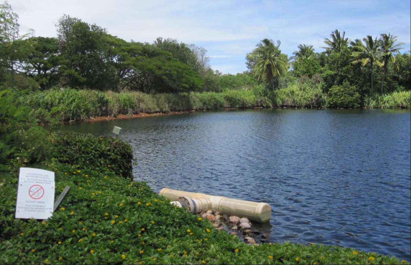 Kauai Lagoons Holding Pond