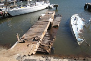 Manele Boat Harbor Tsunami Damage
