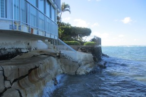 The Kainalu Seawall Repair