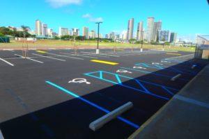 Kaimuki High School Gym Parking Lot